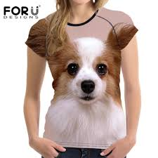 Us 22 99 Forudesigns Kawaii Dogs 3d Papillon Women Summer T Shirt Casual For Teen Girls O Neck Bodybuilding Female Shirts Female In T Shirts From
