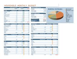 budgets sample household monthly budget office templates