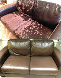 how to re faded leather couch restoring leather furniture damaged leather repaired