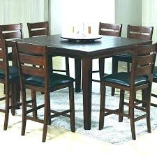 high square kitchen table tables tall incredible black