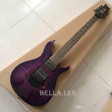 purple quilted maple cap guitar 7 string zebra wood fingerboard electric guitar made in china cool electric guitars left handed electric guitar from
