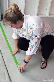 taping along garage door line