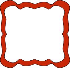 Red Photo Frames Red Curvy Frame Free Clip Art Frames