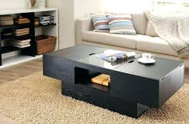 black coffee table with drawers high gloss 85cm