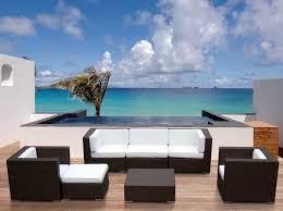 modern wicker patio furniture. Interesting Patio Stunning White Modern Patio Furniture Innovative Desig For Black Wicker  Ideas With D
