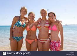 Beach bikini girls teens