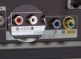 sharp tv canada. photo of a tv\u0027s stereo rca output jacks. sharp tv canada
