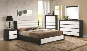 Winsome Black Leather Bedroom Furniture Full Rooms Interior Azure ...