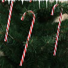Plastic Candy Cane Decorations 100pcs Christmas Tree Ornament Plastic Candy Cane ChristmasTree 51