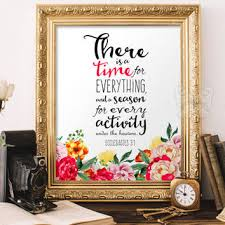 verses art scripture wall decor there is a time for everyt
