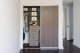 reach in closet sliding doors. Condo Closet With Melamine Sliding Door Reach In Closet Sliding Doors .