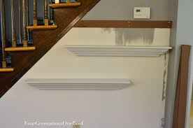 Easy To Install Floating Shelves How to hang shelves using painters tape tutorial Four 49