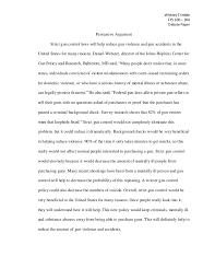 argumentative essay against gun control laws argument against gun control second amendment the right to