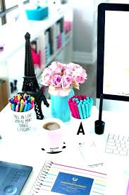 desks pink desk supplies best office images on school neon accessories and blue simplified planner