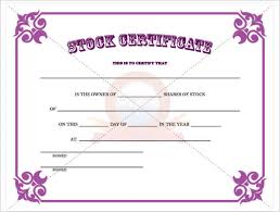 Sample Certificate Templates 42 Stock Certificate Templates Free Word Pdf Excel Formats