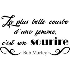 Sticker Citation Courbe Dune Femme De Bob Marley Stickers