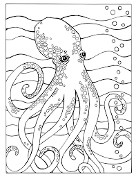 octopus fortuna coloring book octopus page