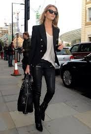black fitted blazer silver embellished jacket