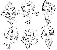 Small Picture wonderful Astonishing Bubble Guppies Coloring Pages New All