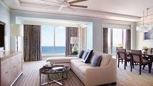 Living Room Bedroom Key Biscayne Oceanfront Two Bedroom Suite The Ritz Carlton Key
