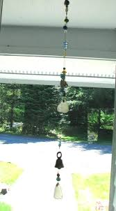 sea glass wind chime frosted white sea glass wind chime yellow blue and white beaded sun sea glass wind chime