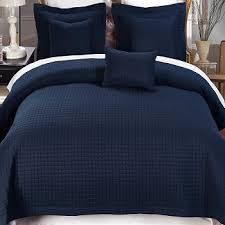 2 Piece Navy Twin XL Coverlet Set | FREE SHIPPING & 2 Piece Navy Twin XL Coverlet Set Adamdwight.com