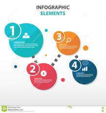 Flow Template Abstract Circle Flow Chart Business Infographics Elements