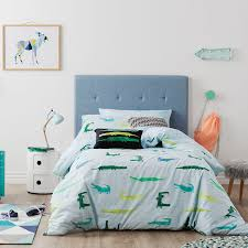 Adairs Kids - Crazy Croc Quilt Cover Set Pale Blue - Adairs Kids ... & Save Adamdwight.com