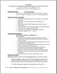 Sample Software Developer Resume Software Developer Experienced