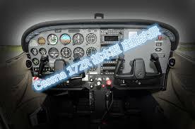Cessna C172r Skyhawk Conventional Cockpit Poster A3 In Flip