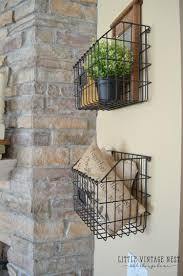 farmhouse style how to decorate with wire baskets