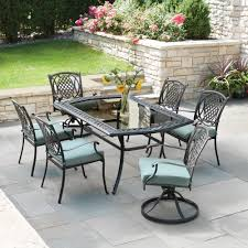 home depot outdoor sling chairs 7 piece metal patio dining set patio furniture front porch furniture