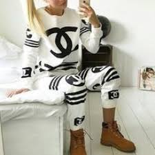 chanel hoodie. chanel tops - white coco chanel sweatshirt hoodie