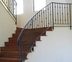 Stairs, Breathtaking Wrought Iron Stair Railings Interior Wrought Iron  Stair Railing Kits Black Straight Iron