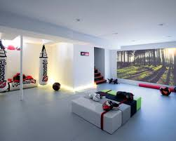 gym lighting design. contemporary basement idea in new york gym lighting design