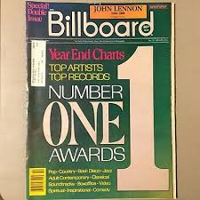 1980 Billboard Magazine Big Year End Issue John Lennon Queen Michael Jackson Ebay