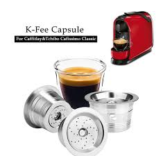 Capsule the cafissimo coffee machine offers you ultimate tchibo coffee quality in combination with an easy to use capsule machine. Icafilas Eco Friendly Stainless Stee K Fee Caffitaly Refilable Filter Tamper Reusable Coffee Capsule Fit Tchibo Machine Coffee Filters Aliexpress