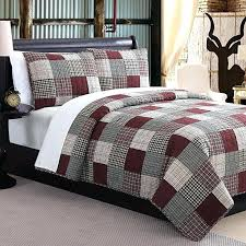 black quilts queen size quilts red and white checd quilt 3 piece patchwork plaid patterned quilt black quilts queen size