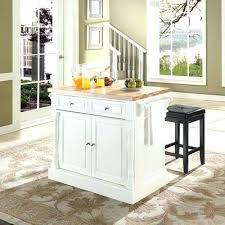 same as kitchen portable darker butcher block with overhang for small breakfast bar adds more storage