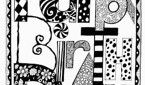 Black And White Birthday Cards Printable Black And White Birthday Cards Printable 7 Best Images Of