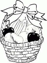 6cr4G6qcK coloring pages fruit coloring home on coloring pages of fruits in a basket