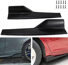 Carbon Fiber Color <b>Rear</b> Bumper Diffuser Universal <b>Car</b> Side ...