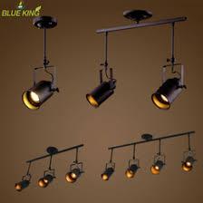 industrial track lighting systems. Vintage Ceiling Lights LED Black Iron Lamp Industrial Clothing Track  Retro Rail Spotlights Luminaria Fixture Light Industrial Track Lighting Systems Y