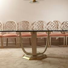 modern henredon dining table