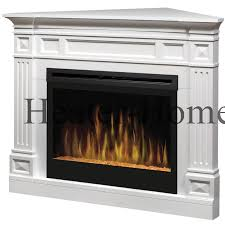 dimplex bsp 3033g tdc traditional corner electric fireplace white tilted left