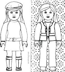 Girl Color Girl Doll Grace Color American Girl Coloring Pages Kit