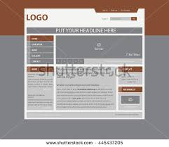 Website Layout Template Fascinating Responsive Web Layout Template Business Nonprofit Stock Vector
