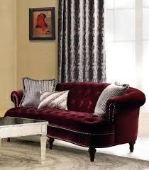 red velvet sofa. Red Velvet Sofa La Rosa