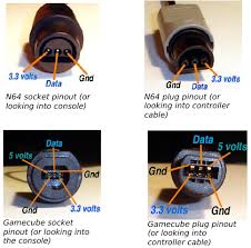 gamecube n64 controller to usb adapter third generation n64 gamecube pinouts