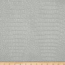 zoom faux leather metallic gator silver